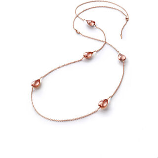 FLEURS DE PSYDÉLIC LONG NECKLACE  Light pink mirror Image