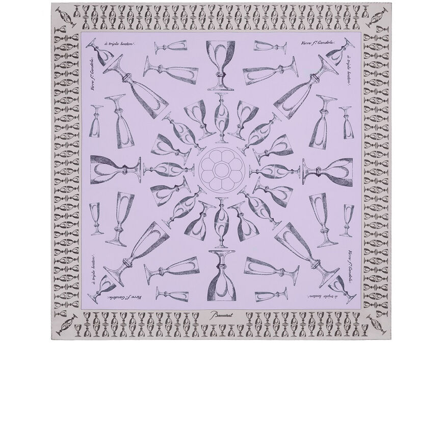 HARCOURT SILK TWILL SCARF, Light pink