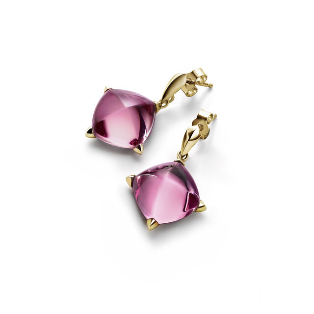 MÉDICIS EARRINGS, Pink mirror