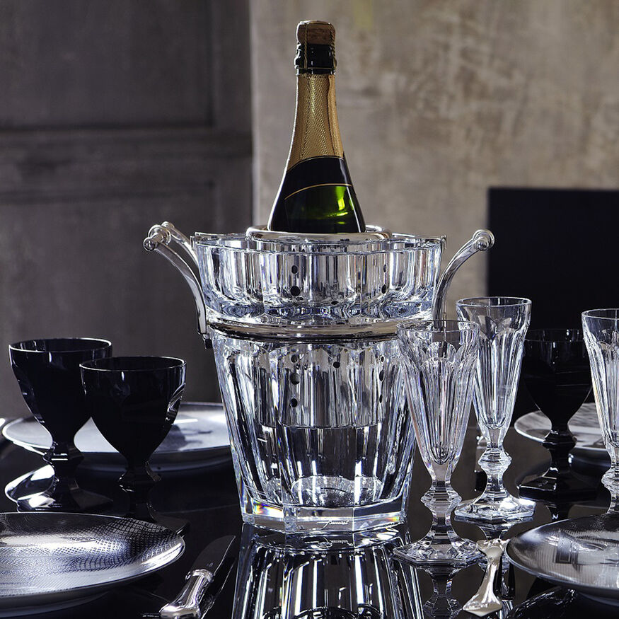 HARCOURT CHAMPAGNE COOLER  Clear & silver - 2
