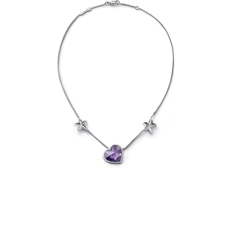 ÉTOILE DE MON COEUR NECKLACE, Purple - 1