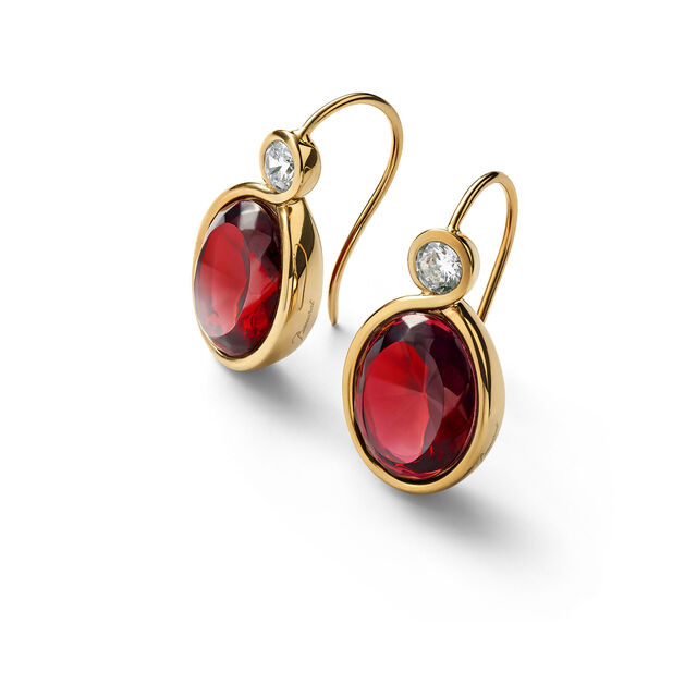 Croisé Earrings, Red