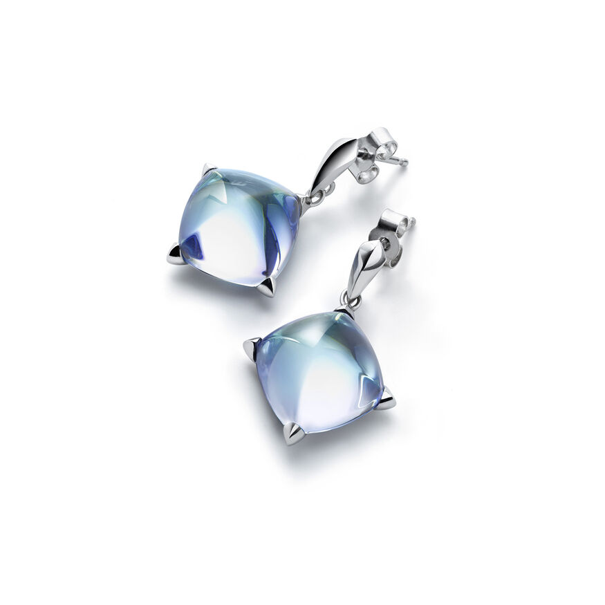 MÉDICIS EARRINGS, Aqua mirror - 1
