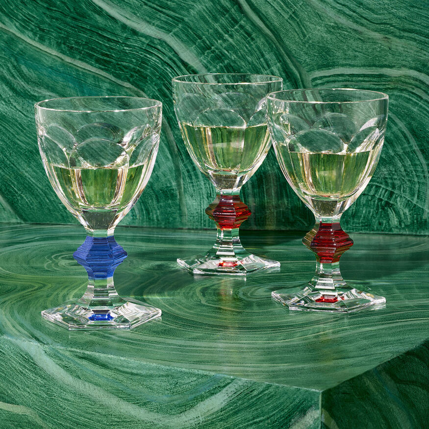 HARCOURT 1841 GLASS, Clear & red - 2