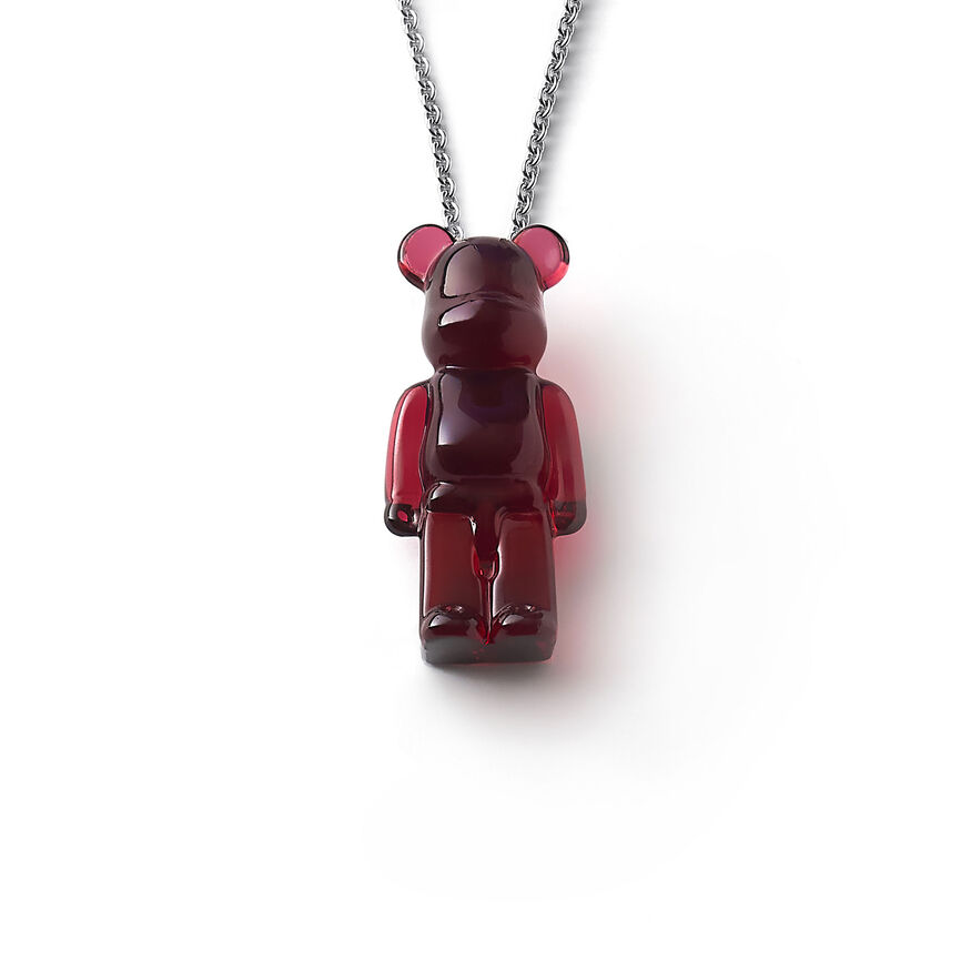 BACCARAT BE@RBRICK NECKLACE, Red - 1