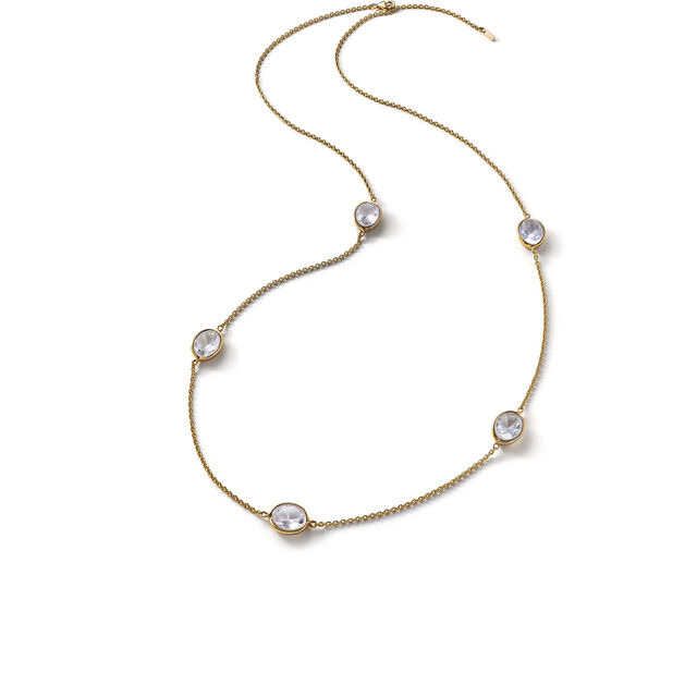 Croisé Long necklace clear vermeil