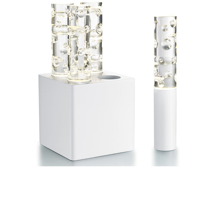 JARDIN DE CRISTAL JALLUM VOTIVES, White - 1