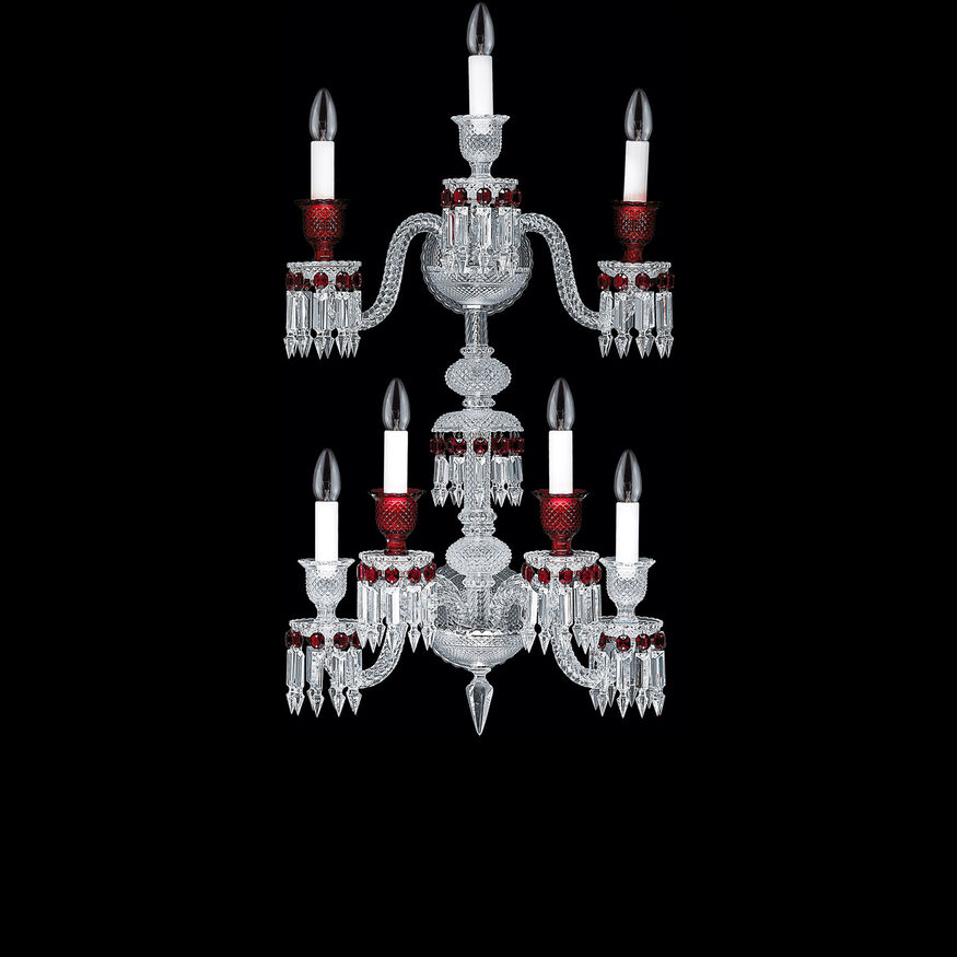 ZÉNITH ROUGE WALL SCONCE  Clear & red
