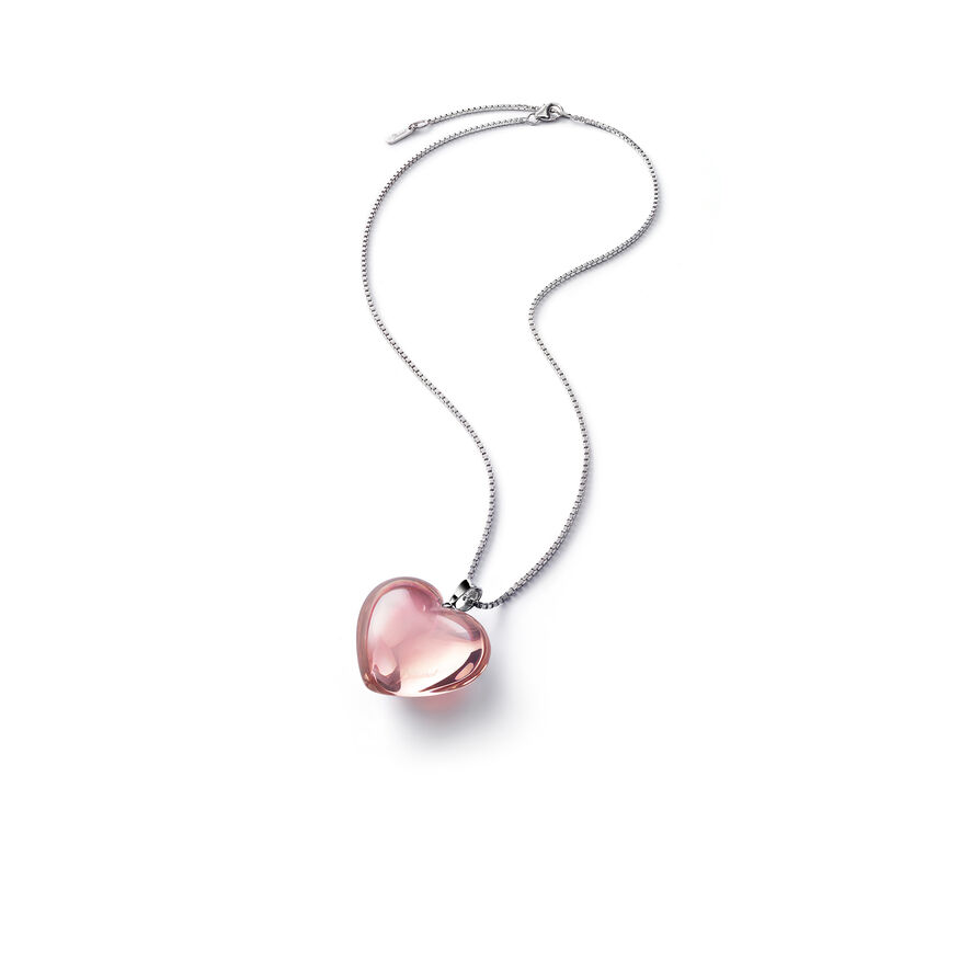 ROMANCE NECKLACE  Light pink mirror