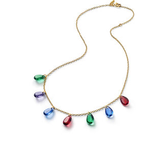 CRYSTAL DROPS OF COLOUR BACCARAT PAR MARIE-HÉLÈNE DE TAILLAC NECKLACE  Gold Image