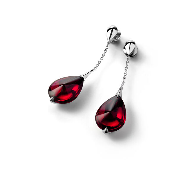 FLEURS DE PSYDÉLIC EARRINGS, Iridescent red