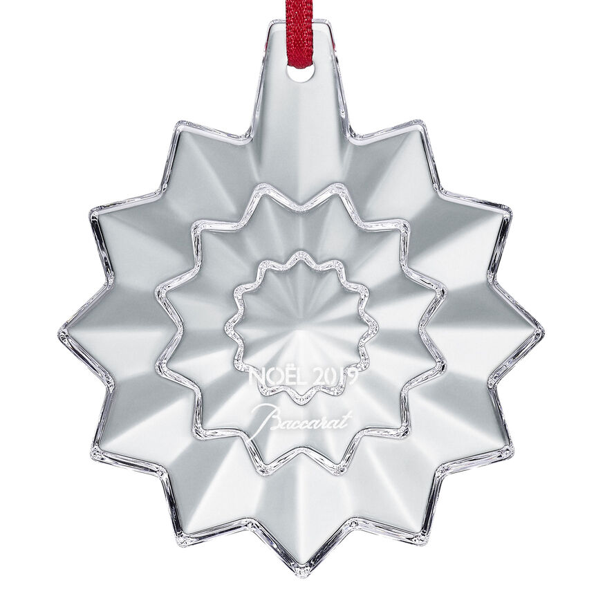 CHRISTMAS ANNUAL ORNAMENT ENGRAVED NOËL 2019, Clear - 3