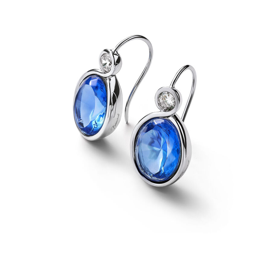 Croisé Earrings, Blue