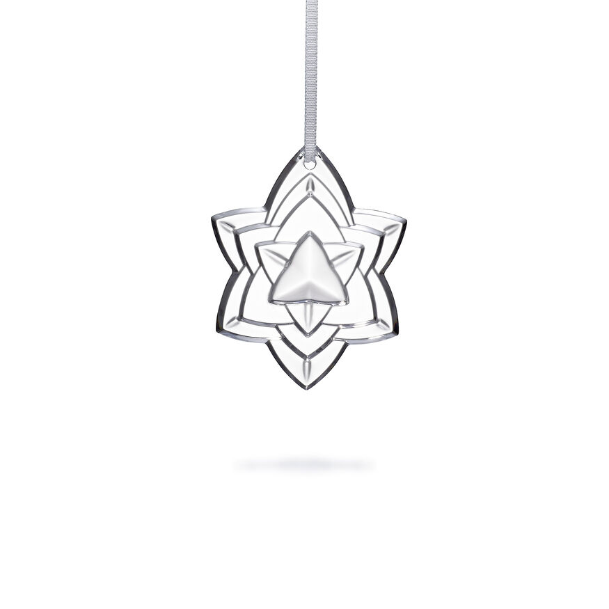 """CHRISTMAS ANNUAL ORNAMENT ENGRAVED """"NOËL 2018"""", Clear"""