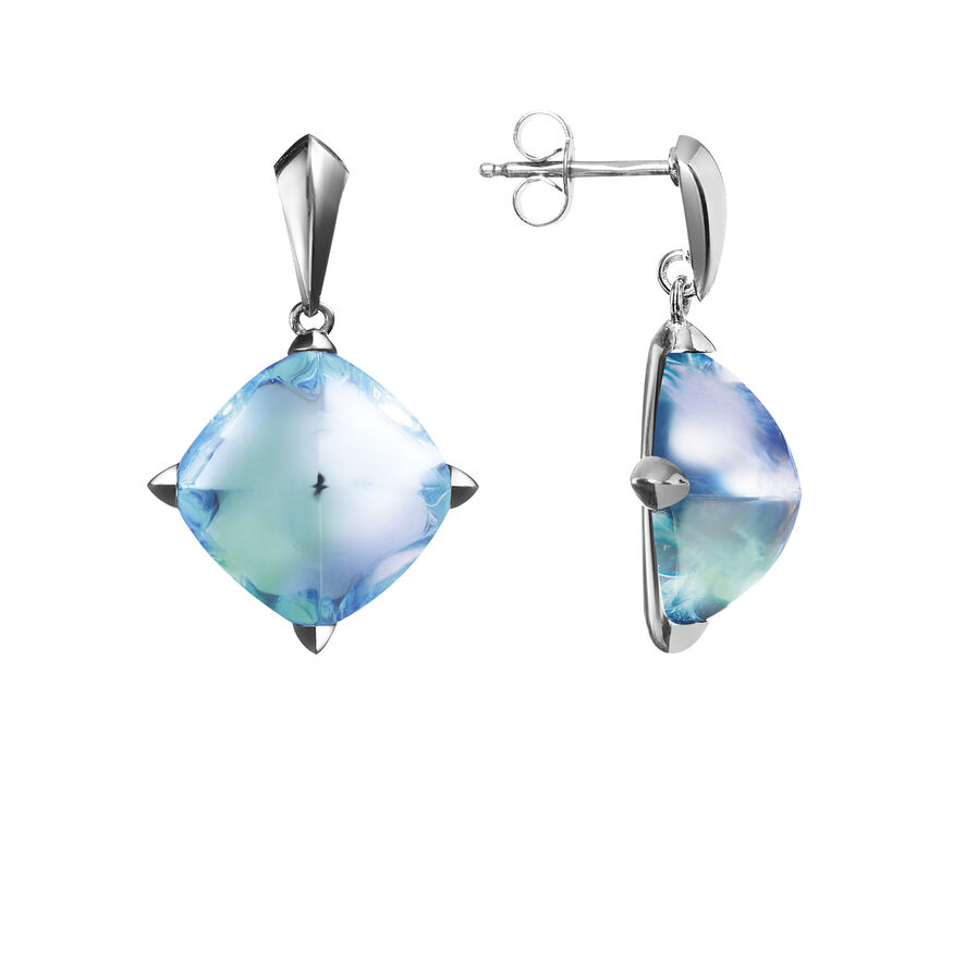MÉDICIS EARRINGS  Aqua mirror Image - 2