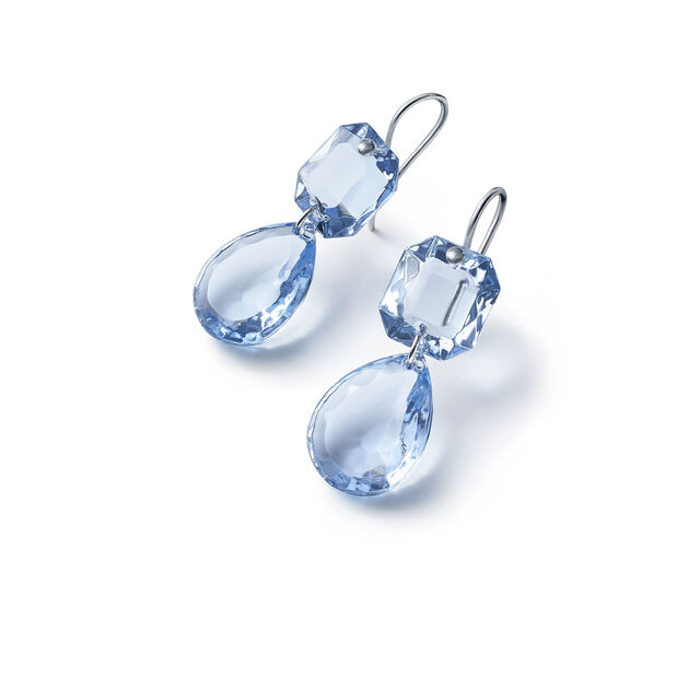 CRYSTAL DROPS OF COLOUR BACCARAT PAR MARIE-HÉLÈNE DE TAILLAC EARRINGS, Light blue