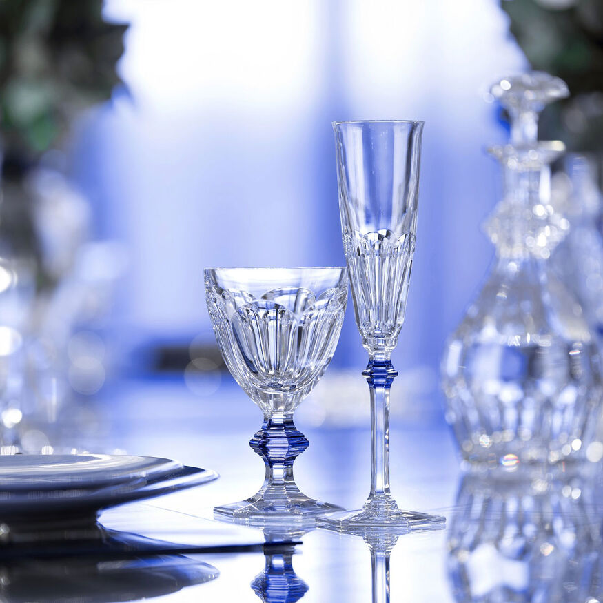 HARCOURT 1841 GLASS, Clear & blue - 5